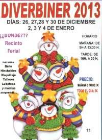 La feria infantil Diverbiner abrirá este jueves sus puertas en el recinto ferial de Binéfar