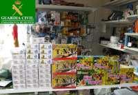 Intervenidos 12 kilos de petardos que vendía de forma ilegal un bazar de Cantalejo (Segovia)