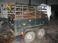Desarticulado un grupo organizado dedicado al robo de cable de cobre en la provincia de Cáceres