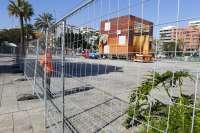 Comienza el montaje del escenario del Carnaval de Las Palmas de Gran Canaria 2014