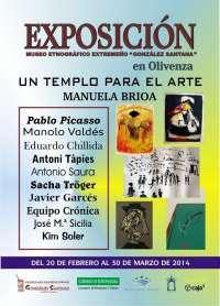 El museo de Olivenza albergará una exposición con obras de Tapies, Picasso o Chillida hasta el 30 de marzo