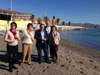 Heredia pide al Gobierno que arregle las playas de Málaga para Semana Santa