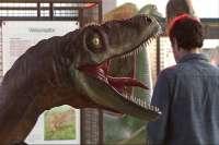 La exposición de dinosaurios a tamaño real 'Dino Expo' se despide de Mérida y pone rumbo a otras localidades extremeñas