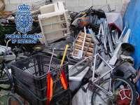 La Policía Nacional inspecciona y propone para sanción a diversos centros clandestinos de chatarra