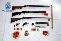 Detenidas tres personas en Badajoz como presuntas autoras de un delito de tenencia ilícita de armas