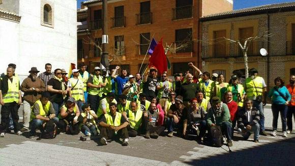 Los miembros de la Columna de Extremadura.