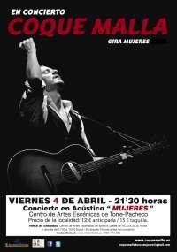 Coque Malla llega esta viernes al Centro de Artes Escénicas de Torre Pacheco