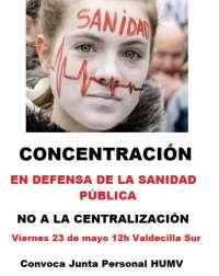 La Junta de Personal de Valdecilla convoca el viernes una concentración contra el plan de centralización