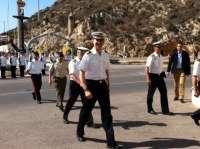 La mala mar obliga a la Fuerza de Protección de Infantería de Marina a realizar dentro de la dársena ejercicios Marsec