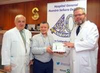 Hospital de Talavera entrega un laringófono a la Asociación de Larigectomizados 'Altare San Blas'