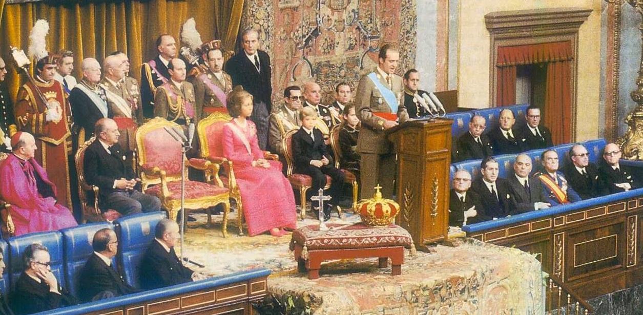 Proclamación de Juan Carlos I en noviembre de 1975 en el Congreso de los Diputados.