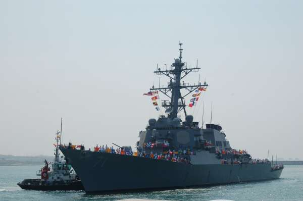 Llega a la Base Naval de Rota el 'USS Ross', el segundo de los destructores antimisiles de EEUU