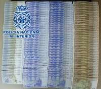 Detenida en Vila-real una pareja sorprendida con 3.600 euros en billetes falsos en un control