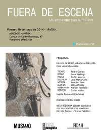 El Museo de Navarra acogerá este viernes la propuesta 'Fuera de escena. Encuentro con la música'