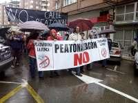 Afectados por la peatonalización dicen que ya están sufriendo los efectos y convocan una manifestación