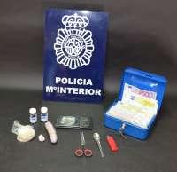 Detenida una pareja en León a la que le han incautado 82,9 gramos de heroína y 100 trankimazines