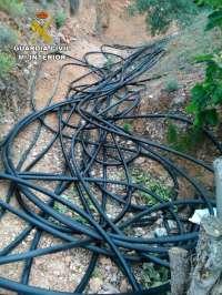 Siete detenidos por el robo de más de 3.000 metros de cable de cobre en municipios de la provincia