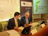 La Diputación y Endesa firman un acuerdo para dotar de iluminación artística al claustro del Palacio Provincial