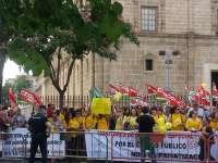 Monitores del plan de choque se manifiestan desde Torretriana el 2 de julio al verse