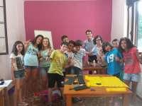 Capellán visita a escolares riojanos que participan en un campamento de inmersión lingüística en inglés