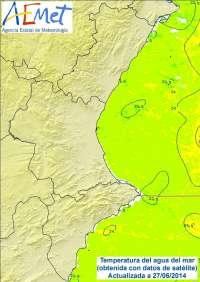 La Comunitat Valenciana vuelve a registrar valores cálidos típicos de verano con 34 grados en Xátiva y Ontiyent