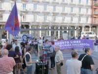 Alrededor de cien personas se manifiestan en Valladolid por el aborto libre y contra la reforma de Gallardón