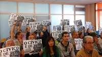 Suspendido el pleno en Vigo por las protestas de vecinos contra el PP y el PSOE