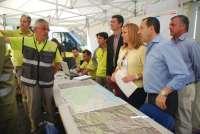Junta cifra en 200 las hectáreas afectadas por el fuego en Cómpeta y transmite tranquilidad a vecinos