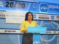 El PP de Extremadura valora
