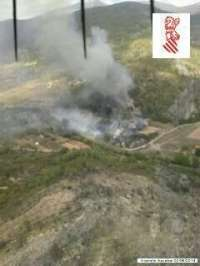 Controlado un incendio en Azuébar que afecta a dos hectáreas de superficie