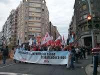 Cientos de personas se manifiestan en toda Galicia para pedir el indulto de los sindicalistas condenados