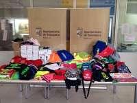 Intervienen en el rastro de Salamanca cerca de 400 prendas deportivas falsificadas