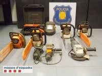 Detenido por seis robos de herramientas en almacenes y granjas de Lleida