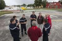 Responsables franceses de salvamento conocen en Pamplona los dispositivos de emergencia de Sanfermines