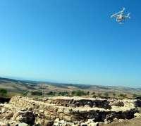 Drones arqueológicos sobrevuelan los yacimientos de Terrinches (Ciudad Real) captando fotografías con fines científicos