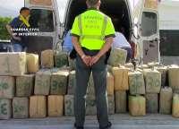 Detenido el conductor de una furgoneta con más de cuatro toneladas de hachís en Lorca
