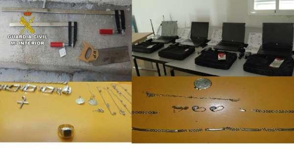 Cinco detenidos de una banda dedicada al robo con fuerza en viviendas de La Vera