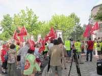 La marcha de UGT contra los recortes sanitarios en Zamora alcanza la sede de la Junta tras cinco de días de ruta