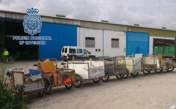 Detenidos los dueños de una chatarrería por emplear ilegalmente a inmigrantes en situación irregular
