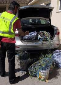 Guardia Civil sorprende a dos jóvenes cuando robaban cable de cobre en una urbanización en obras de Murcia
