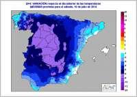 Un frente atlántico llegará por el oeste y hará caer los termómetros en todo el país hasta el lunes
