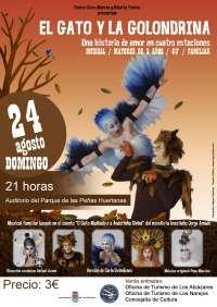 El Parque de las Peñas Huertanas de Los Alcázares acoge este domingo el musical 'El gato y la golondrina'