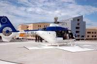 El helipuerto del Hospital 'Nuestra Señora del Prado' de Talavera de la Reina alcanza las 231 intervenciones desde 2009