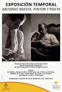 Manzanares (Ciudad Real) homenajea a su pintor Antonio Iniesta con una exposición de su obra