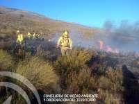 El Infoca da por extinguido el incendio forestal en Lanjarón