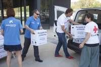 Los voluntarios de 'la Caixa' recogen en Asturias más de 2.000 kilos de alimentos