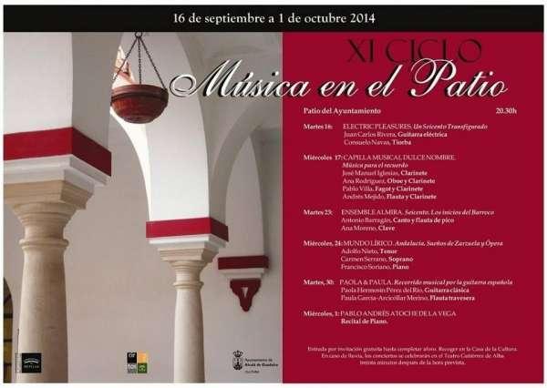 El patio del Ayuntamiento de Alcalá de Guadaíra acoge el XI Ciclo de Música en el Patio