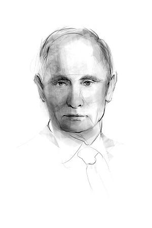 <p>Retrato ilustrado de Vladimir Putin</p>