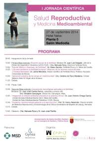 Fertilidad Roca y Mesa del Castillo organizan este sábado jornada científica sobre salud reproductiva y medioambiental