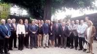 Moreno (PP-A) se reúne con los representantes de colegios profesionales de Sevilla